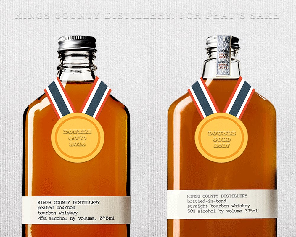 """16f64bfb2 Kings County Distillery (American Distillery of the Year 2016) — the  """"stunningly lovely"""" Peated Bourbon and Best-in-Category"""